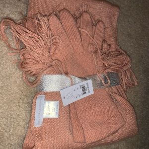 New York and Company Scarf and Gloves Set